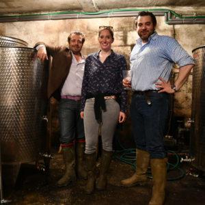 Die Winzer des Weingutes Schluss Marusevec sind Maximilian Pongratz-Lippitt, Camilla Lamberg und Christoph Eder